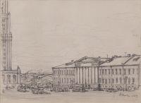 Artist: Rybchenkov, Boris Fedorovich : Площадь Восстания