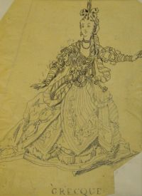 Artist: Benois, Alexandr Nikolaevich : Гречанка. Эскиз театрального костюма