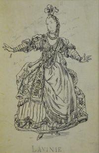 Artist: Benois, Alexandr Nikolaevich : Лавинь. Эскиз театрального костюма