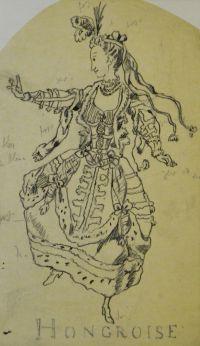 Artist: Benois, Alexandr Nikolaevich : Венгерка. Эскиз театрального костюма