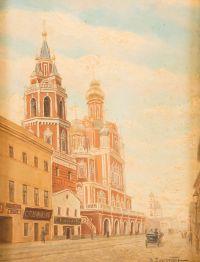 Художник: Батурин, Виктор Павлович : The dormition cathedral in the Pokrowskaja street in Moscow