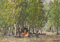 Artist: Grandi, Vasily Ivanovich : В парке