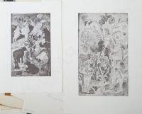 Artist: Sinyakova-Urechina, Mariya Mikhailovna : Два пробных оттиска иллюстраций к сборнику стихов Г. Плетникова «Поросль солнца» (2)