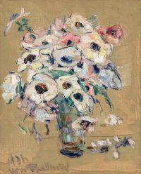 Художник: Терликовский, Владимир : Still Life with White Flowers in Glass Vase