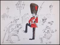 Artist: Galba, Vladimir Alexandrovich : Королевский гвардеец и фотографы