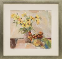 Artist: Zabelina, Alexandra Leonidovna : Желтые ромашки в керамическом кувшине