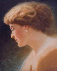 Artist: Izmaylovich, Vladislav Matveevich : Портрет девушки