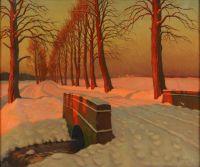 Artist: Germashev, Mikhail Markianovich : Зимний пейзаж