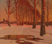 Artist: Germashev, Mikhail Markianovich : Winter Glow