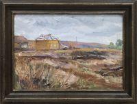 Artist: Plastov, Arkady Alexandrovich : Пейзаж со срубами