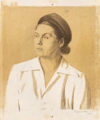 Artist: Gavrilkevich, Evgeny Grigorievich : Portrait of a Woman