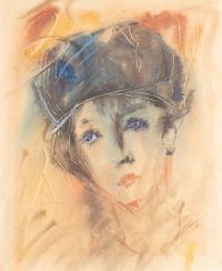 Artist: Zverev, Anatoly Timofeevich : Frauenkopf