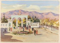 Artist: Ershov, Igor Alexandrovich : Park of Culture and Rest in Leninabad
