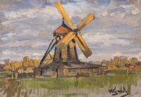 Artist: Kulikov, Ivan Semenovich : Ветряная мельница близ Мурома