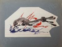 Artist: Basnina-Verkholantseva, Anna Nikolaevna : Волны в стиле ар-деко