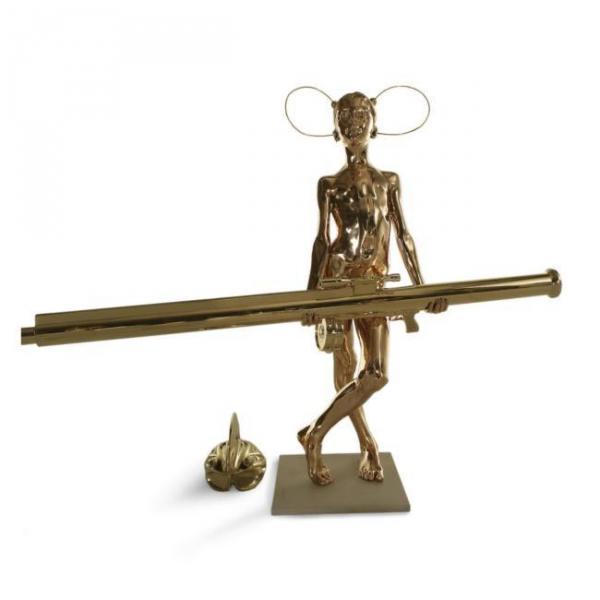 ГРУППА АЕС+Ф. Воин номер 4. 2006. Скульптура. Бронза