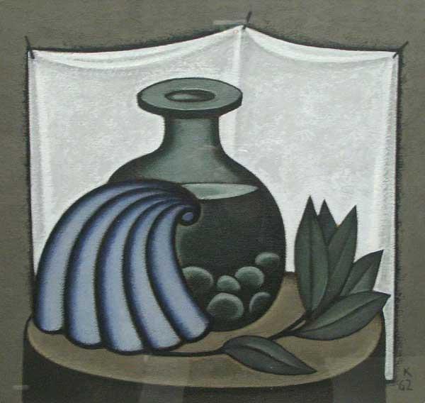 ДМИТРИЙ КРАСНОПЕВЦЕВ Сосуд с водой и камешками, раковина и ветка
