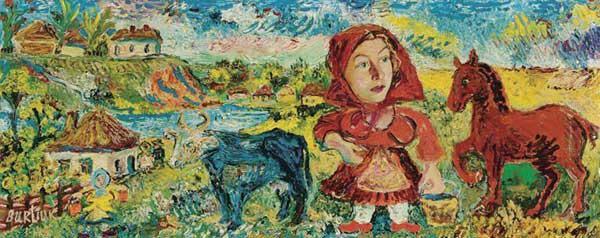 ДАВИД БУРЛЮК. Воспоминания о детстве. 1945