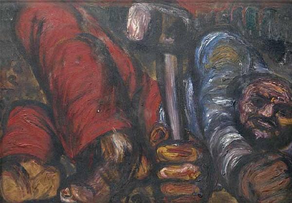 Чубаров Е. И. Автопортрет с молотом. 1978