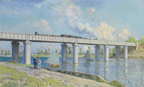 КЛОД МОНЕ Железнодорожный мост в Аржантейе