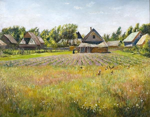 НИКОЛАЙ ДУБОВСКОЙ Сельский пейзаж. Огороды