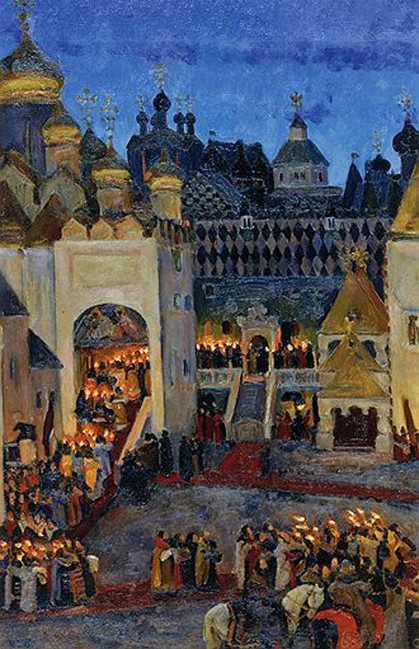 КОНСТАНТИН ЮОН Кремль перед коронацией царя Михаила Федоровича