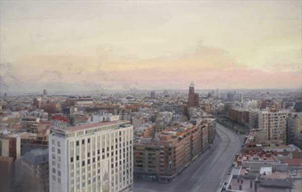 АНТОНИО ЛОПЕС ГАРСИА Вид Мадрида с Белых Башен