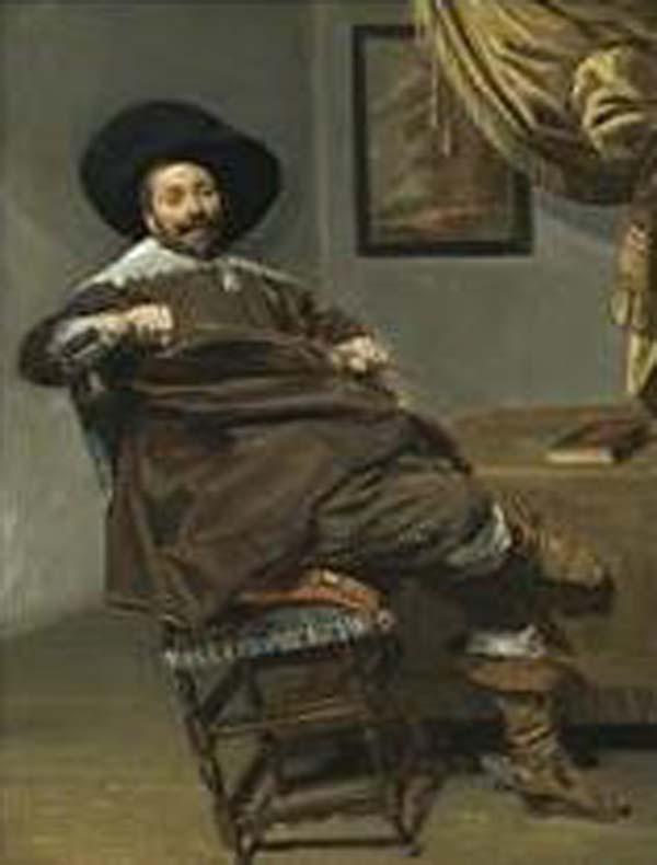 ФРАНС ХАЛС Портрет Виллема Хейтхейсена, сидящего на стуле с охотничьим хлыстом в руке