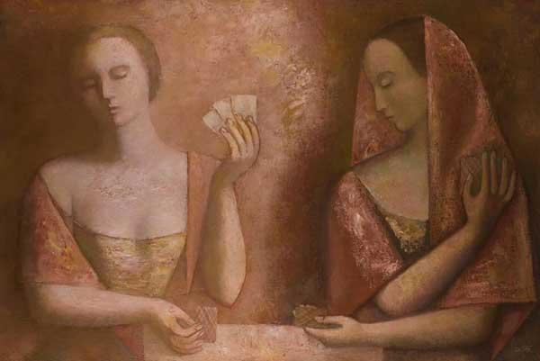 ОЛЬГА БУЛГАКОВА Две девушки. 1994