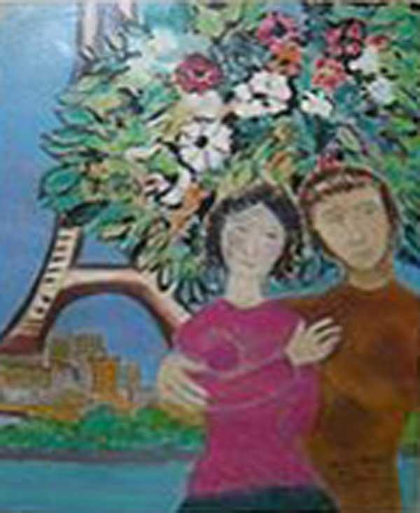 ДЭВИД ШТАЙН Рисунок в стиле Марка Шагала