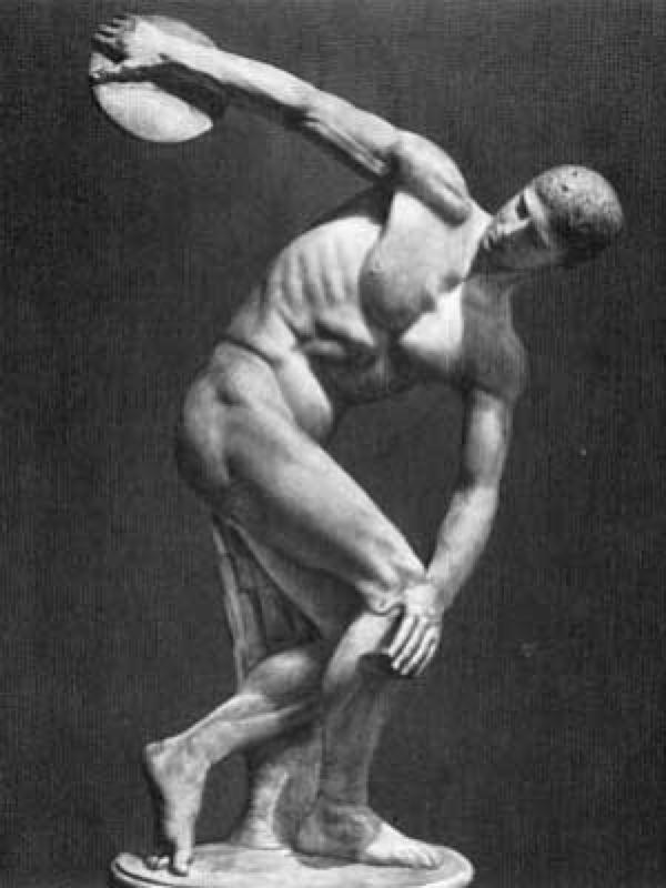 МИРОН Дискобол. Римская копия