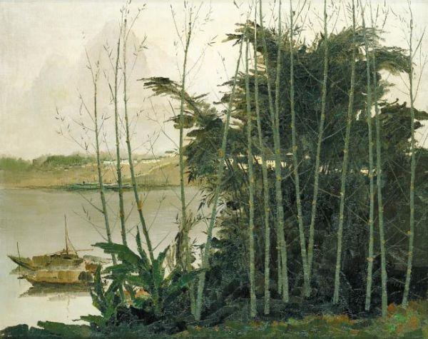 У ГУАНЬ-ЧЖУН Вид реки Лицзян. 1975