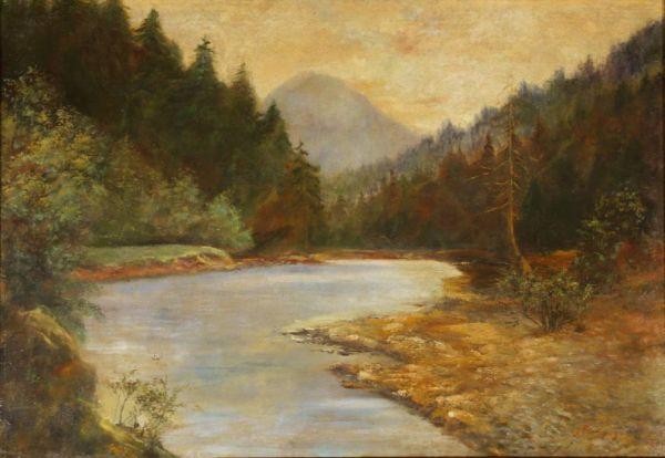 ИЛЬЯ ОСТРОУХОВ Уральский пейзаж. 1909
