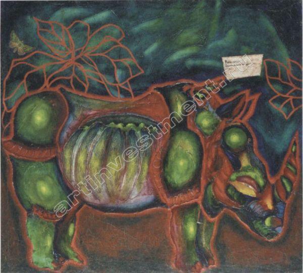 СЕРГЕЙ ШУТОВ Удивительный носорог. 1980