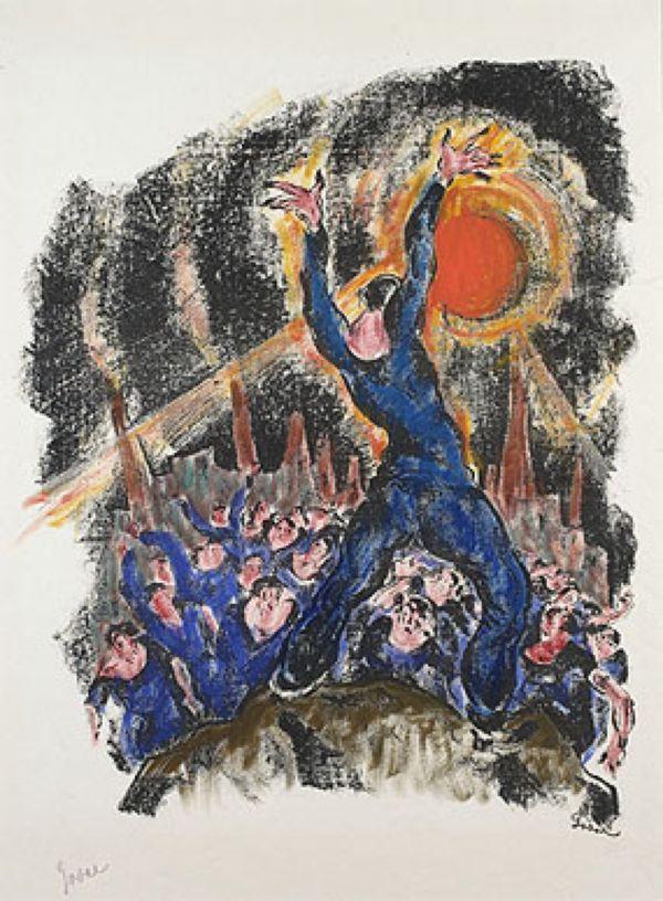 ЭРИХ ЯКОБ ЙОЗЕФ ГОДАЛ Бунт. IV лист серии «Революция». 1920
