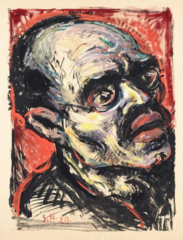 АРНОЛЬД ШМИДТ-НИХИОЛ Портрет Карла Либкнехта IV. Ок. 1920