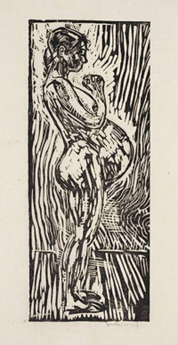 ГУСТАВ ГЕНРИХ ВОЛЬФ Беременная IV. Из серии «Материнство». 1920