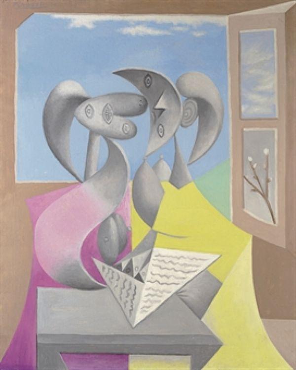 ПАБЛО ПИКАССО Две фигуры (Мари-Терез и ее сестра за чтением). 1934