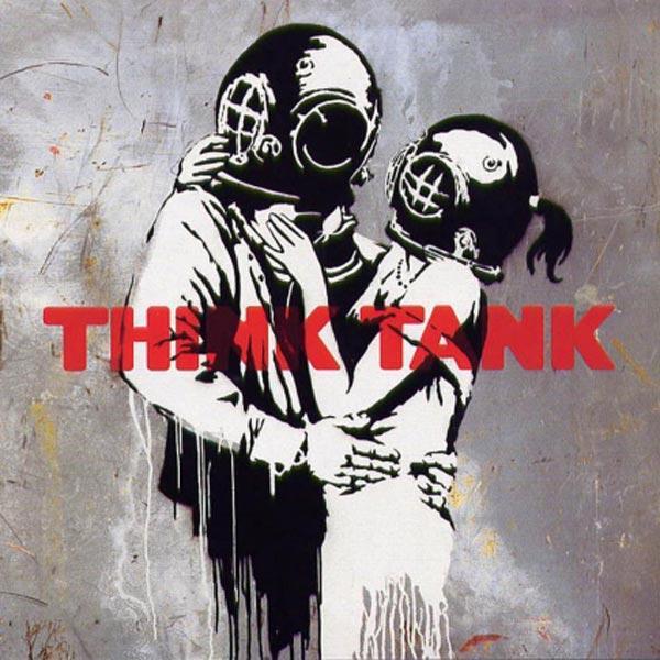 БЭНКСИ Обложка альбома Think Tank группы Blur