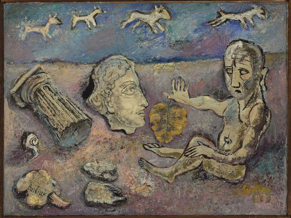 ДАВИД БУРЛЮК Лист как защита; портрет. 1934