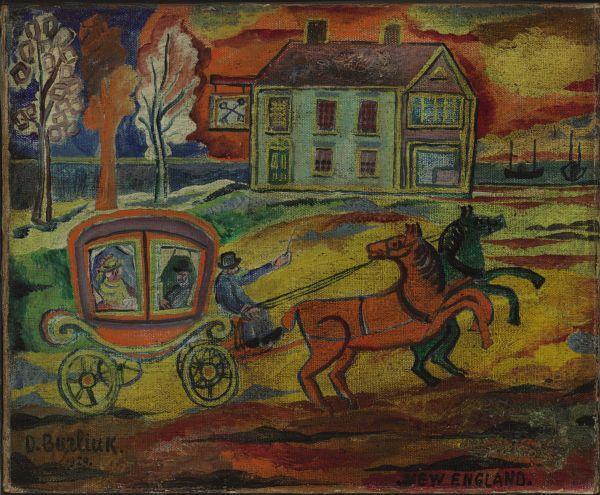 ДАВИД БУРЛЮК Новая Англия. 1929