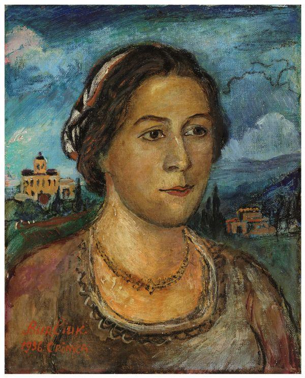 ДАВИД БУРЛЮК Портрет Маруси Бурлюк. 1956