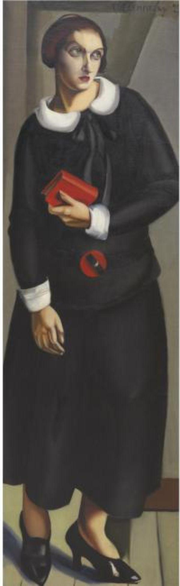 ТАМАРА ДЕ ЛЕМПИЦКА Женщина в черном платье. 1923