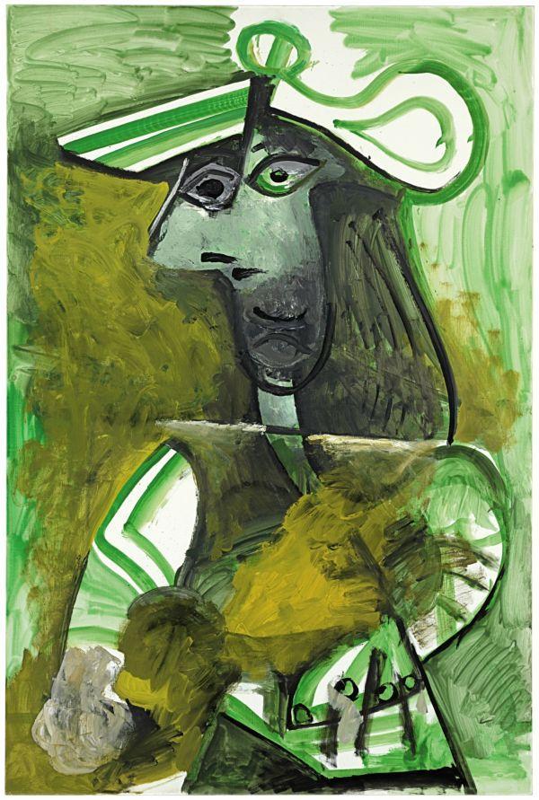 ПАБЛО ПИКАССО Женщина в шляпе. 1971