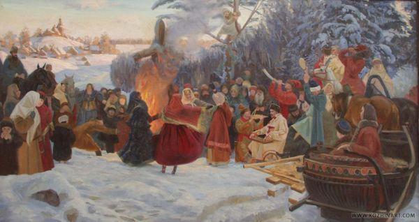 СЕМЁН КОЖИН Масленица. Проводы зимы. XVII в. 2001