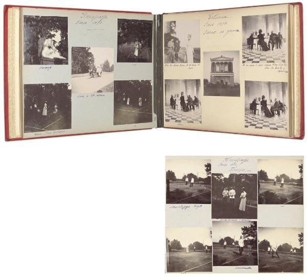 Альбом с фотографиями членов российской императорской семьи. Ок. 1898. Всего около 230 фотографий Christie's. 20.11.09. Лот № 17 Оценка аукциона (эстимейт): 4–6 тысяч фунтов