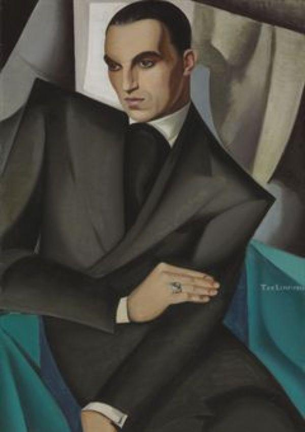 ТАМАРА ДЕ ЛЕМПИЦКА Портрет маркиза Сомми. 1925