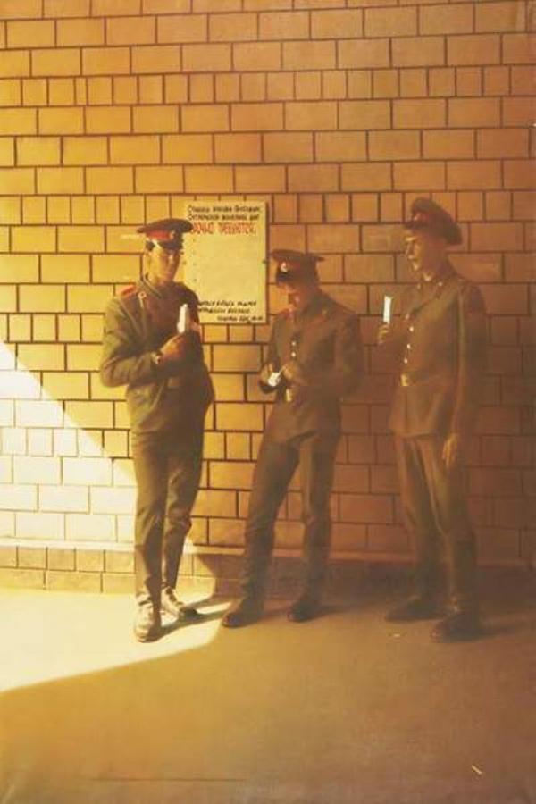 СЕМЕН ФАЙБИСОВИЧ Солдаты. Из цикла «На вокзале». 1989