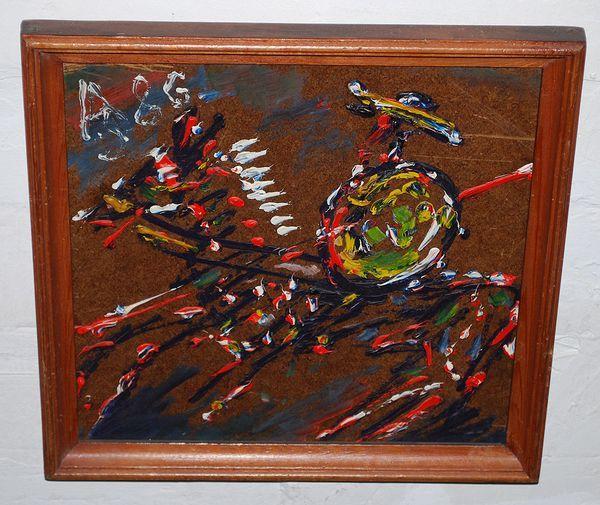 «Дон Кихот» Анатолия Зверева 1986 года. Работа выполнена в присутствии коллекционера