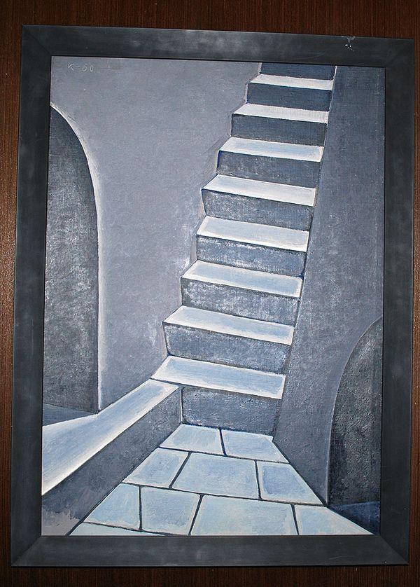 Есть свидетельства, что именно эта живописная «Лестница» 1960 года стала поворотной вещью Краснопевцева
